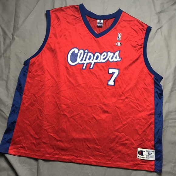 36900ad61 Vintage Lamar Odom Champion 2XL 52 Jersey Clippers